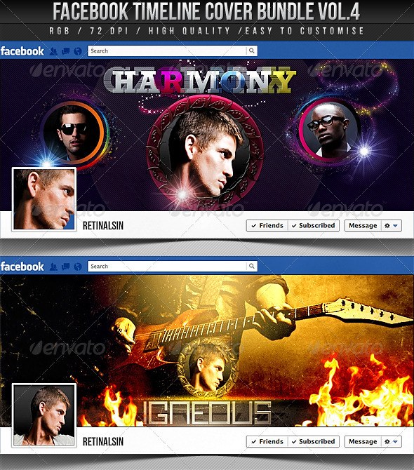Facebook Timeline Cover Bundle Vol.4 - Facebook Timeline Covers Social Media