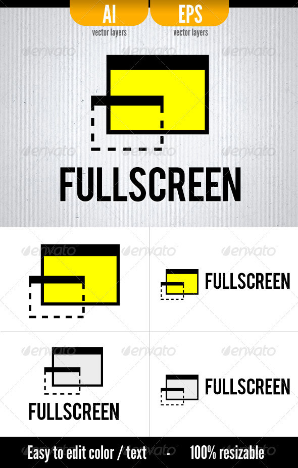 FullScreen - Symbols Logo Templates