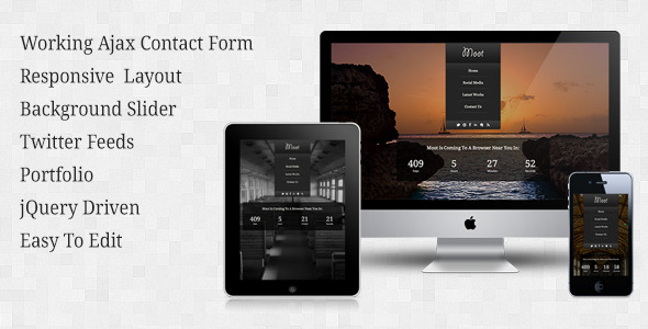 Moot - Responsive Under Construction Theme