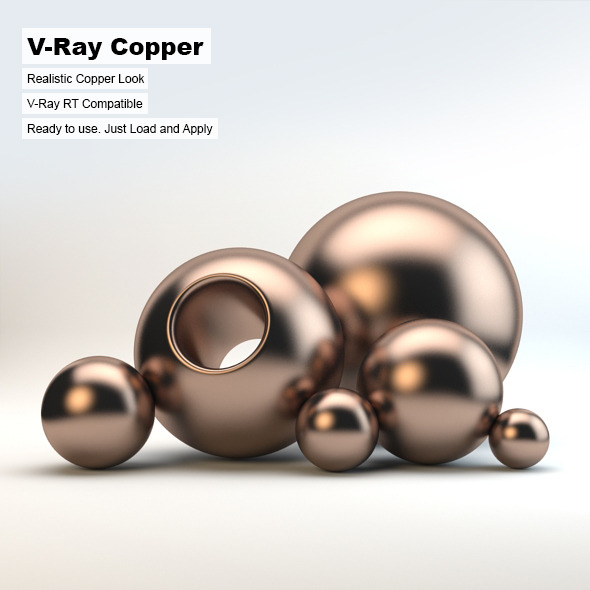 V-Ray Copper Material - 3DOcean Item for Sale