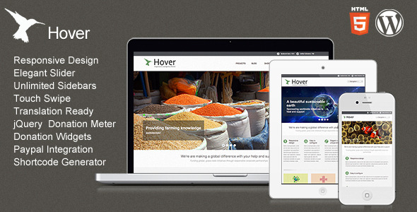 Hover - Responsive WordPress Theme - Theme preview.