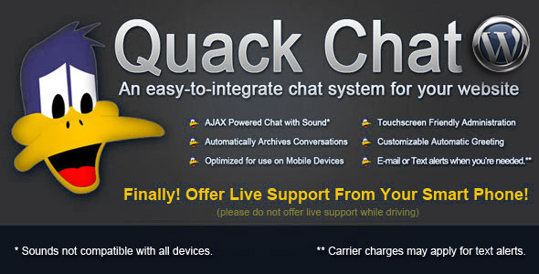 WP - Quack Chat Live Chat System - CodeCanyon Item for Sale
