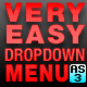 Very Easy Drop Down Menu v1 for AS3 - ActiveDen Item for Sale