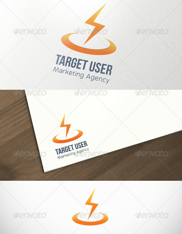 Target User Marketing Agency Logo Template - Symbols Logo Templates