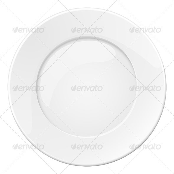Empty white plate - Health/Medicine Conceptual