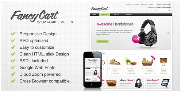 ThemeForest FancyCart Premium OpenCart Theme 2393350