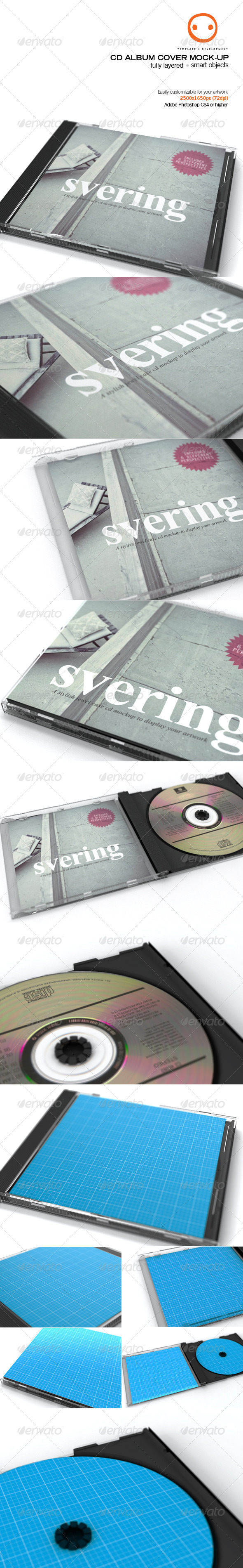 GraphicRiver CD Album Cover Mock-up 2533489