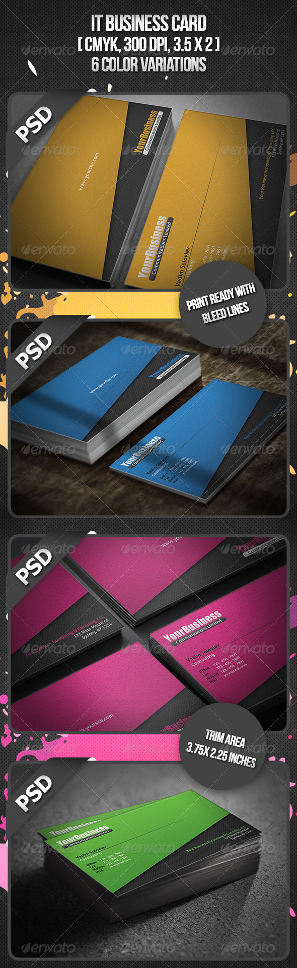 IT Business Card - Creative Business Cards