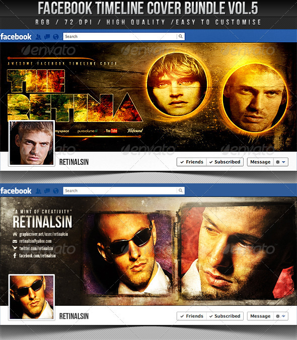 Facebook Timeline Cover Bundle Vol.5 - Facebook Timeline Covers Social Media
