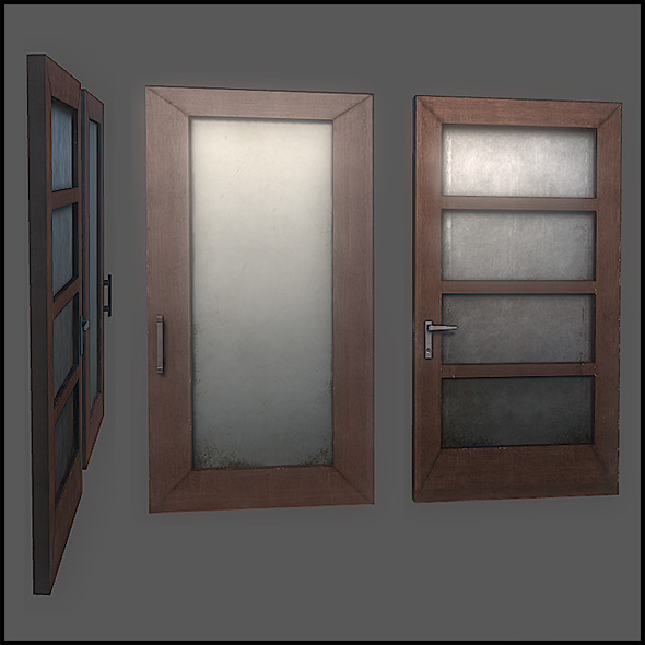Classic Door Set - 3DOcean Item for Sale