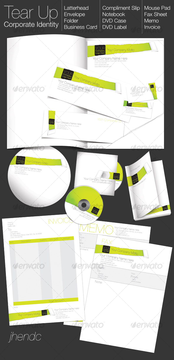 TEAR UP - Corporate Identity - Stationery Print Templates