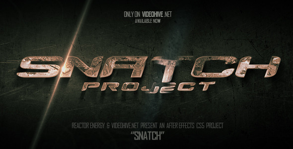 After Effects Project - VideoHive Snatch Action Titles 2856797