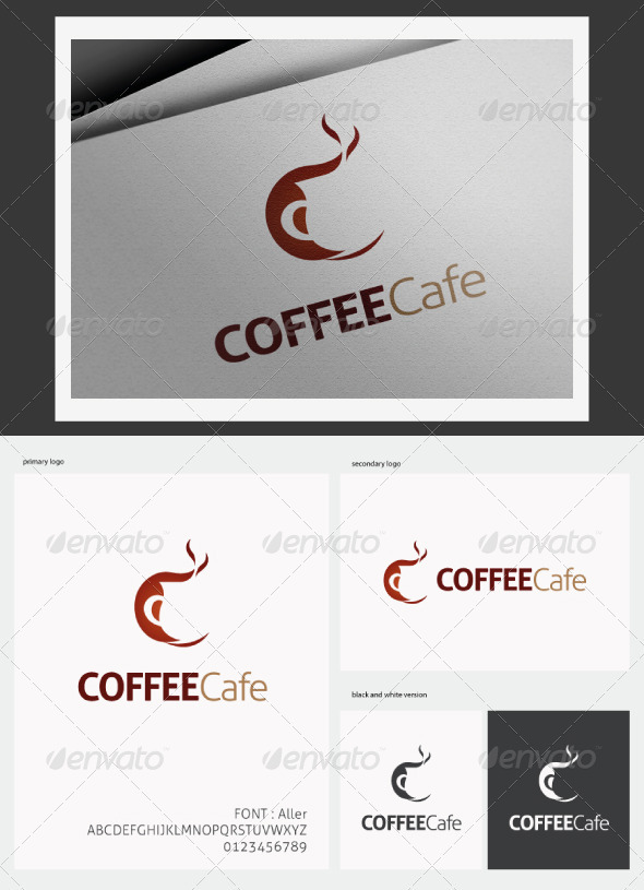 Coffee Cafe Logo - Abstract Logo Templates