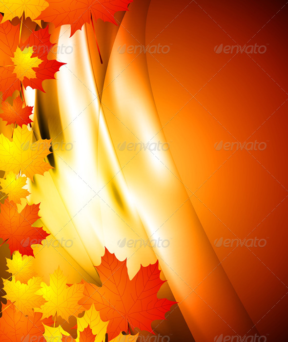 Wavy autumn background - Backgrounds Decorative