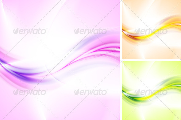Bright waves backgrounds - Backgrounds Decorative