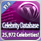 Celebrity Database for Wordpress - CodeCanyon Item for Sale