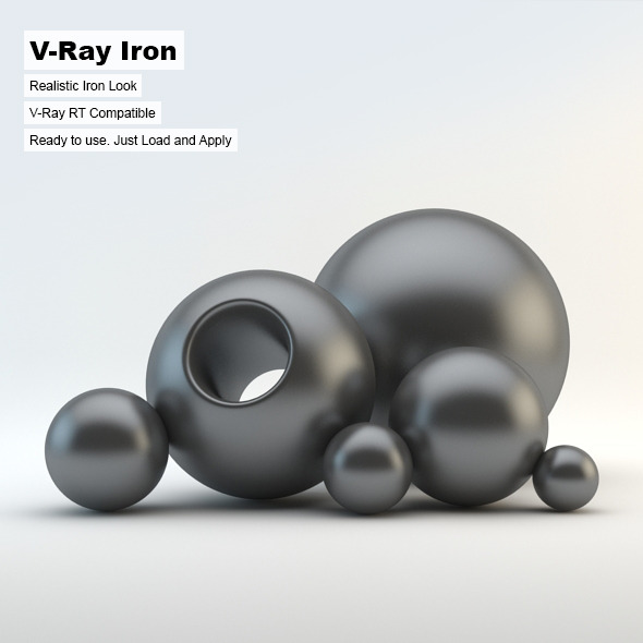 V-Ray Iron Material - 3DOcean Item for Sale