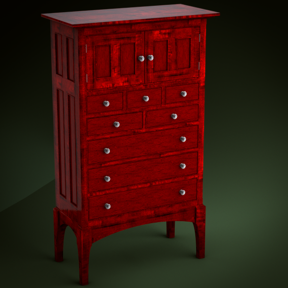 Traditional High Style Tall Chest of Drawers - 3DOcean Item for Sale