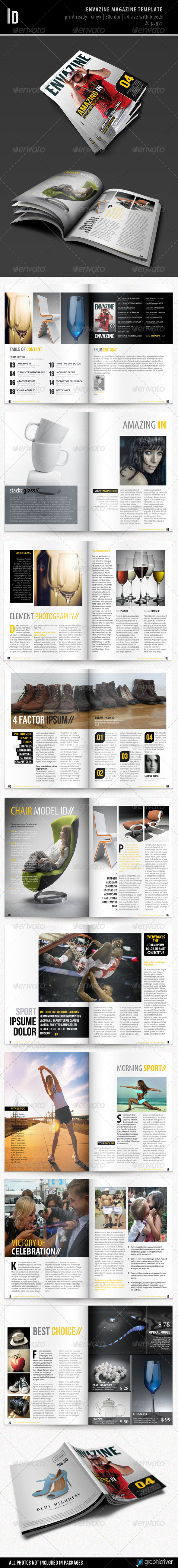GraphicRiver Envazine Magazine Template 2859221
