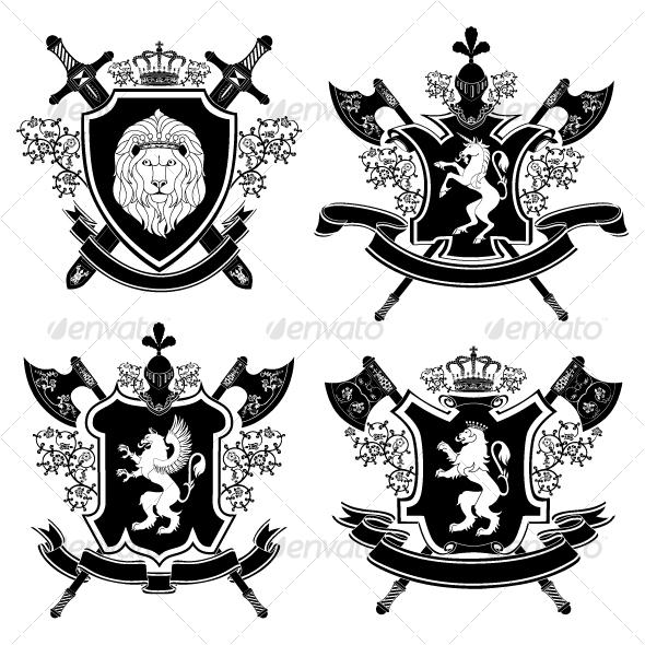Graphic River Coat of arms Vectors -  Decorative  Decorative Symbols 102759
