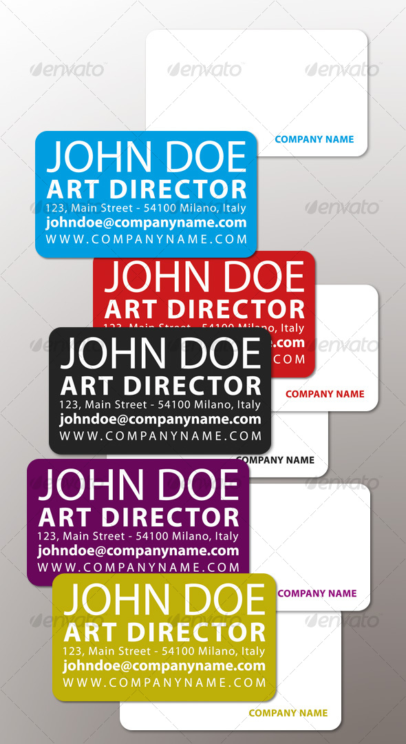 Simple Color Business Card - Creative Business Cards