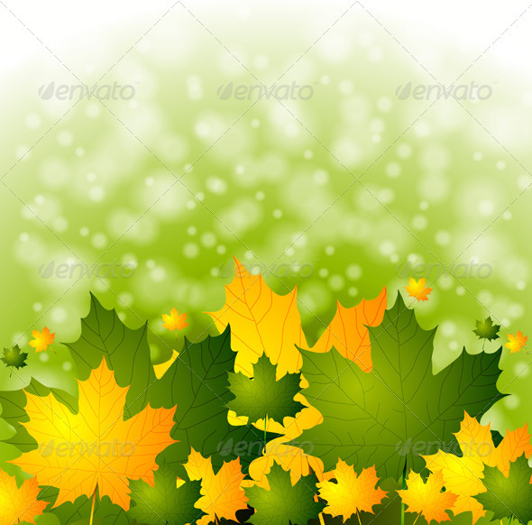 Bright autumn background - Backgrounds Decorative