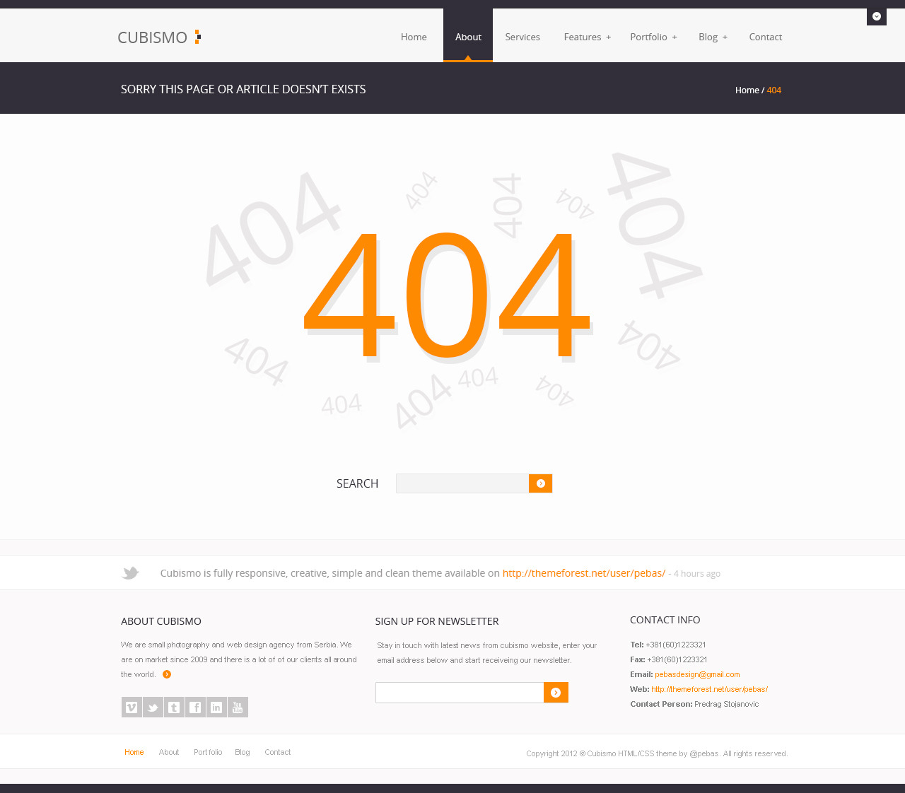 Cubismo - Minimal Responsive HTML/CSS Theme