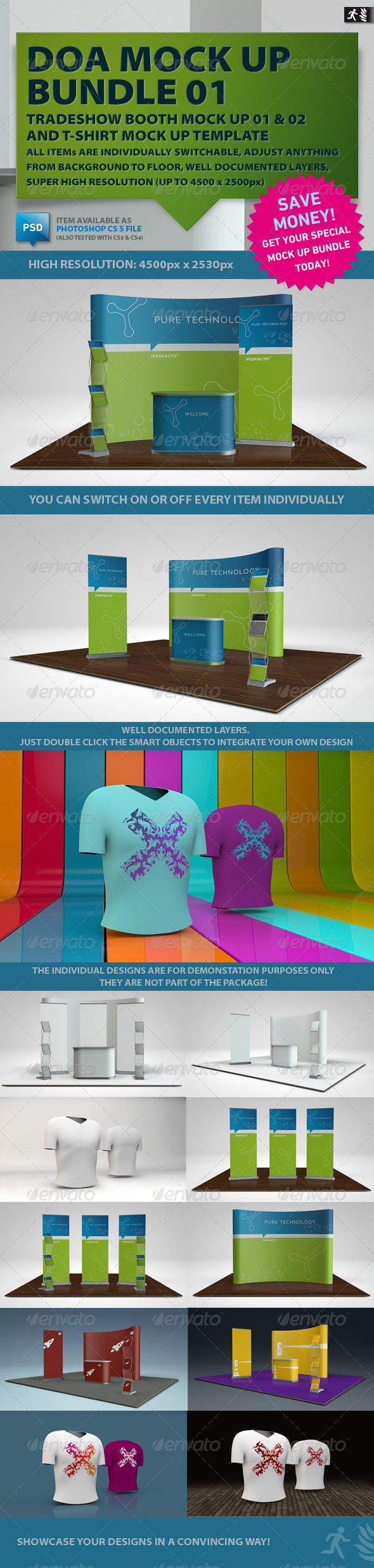 DOA Mock Up Bundle 01 - Miscellaneous Displays