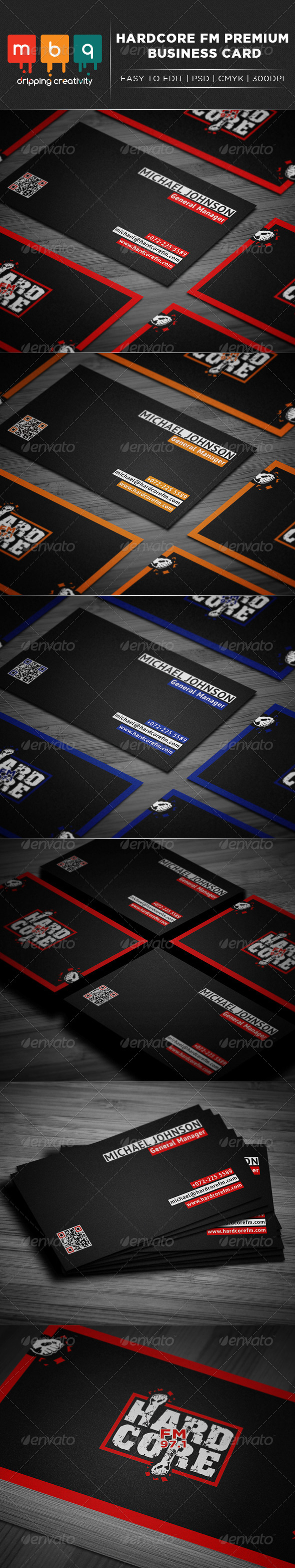 Hardcore FM Business Card - Creative Business Cards