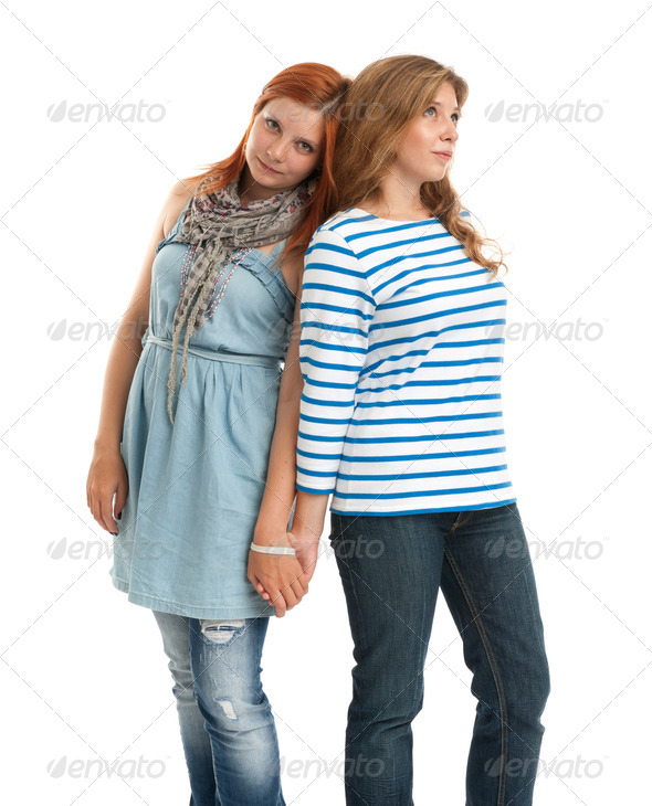 Two girl friends - Stock Photo - Images