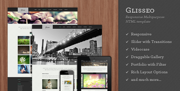 Glisseo - Responsive Multipurpose HTML Template - Creative Site Templates