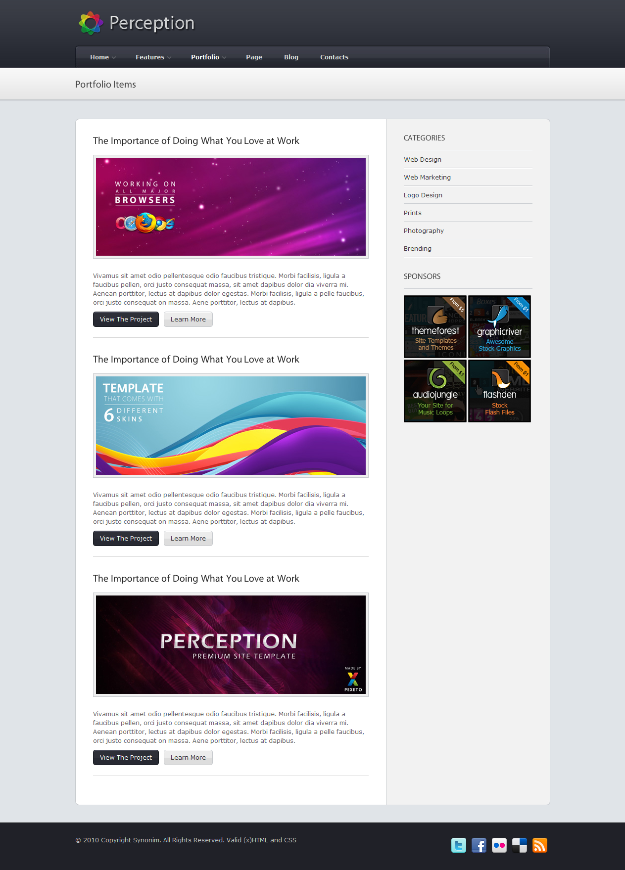 Perception -Premium Business / Portfolio HTML Site