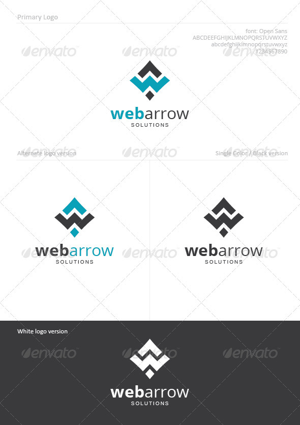 Webarrow - Letters Logo Templates