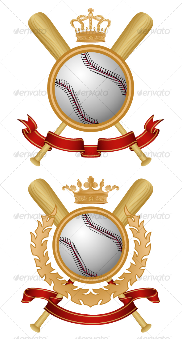 Graphic River Baseball Coat of Arms Vectors -  Conceptual  Sports/Activity 102918