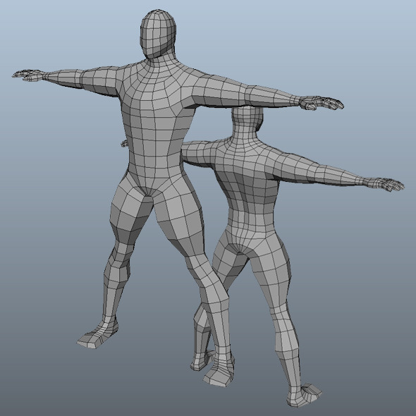 3DOcean Base Mesh Man Model 2870313