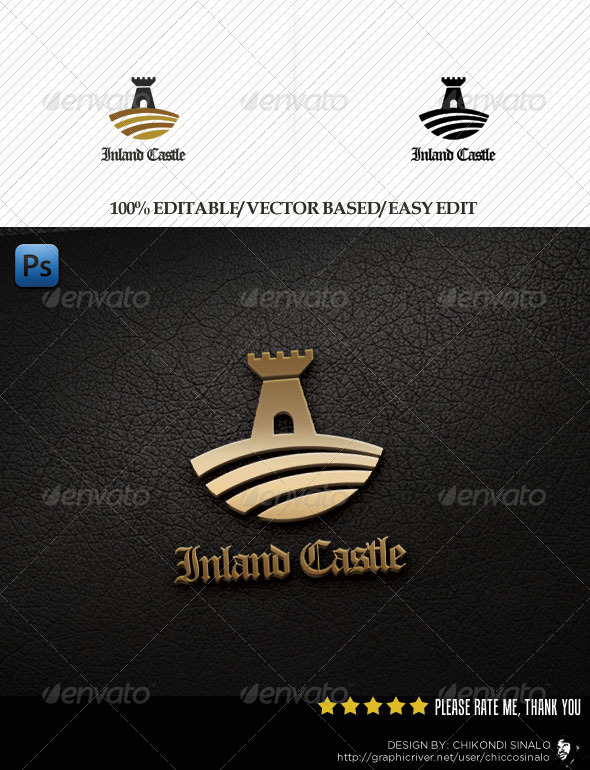 Inland Castle Logo Template - Buildings Logo Templates