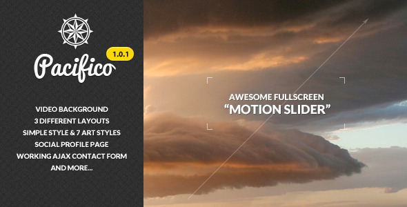 Pacifico - Fullscreen template with Motion Slider - Photography Creative