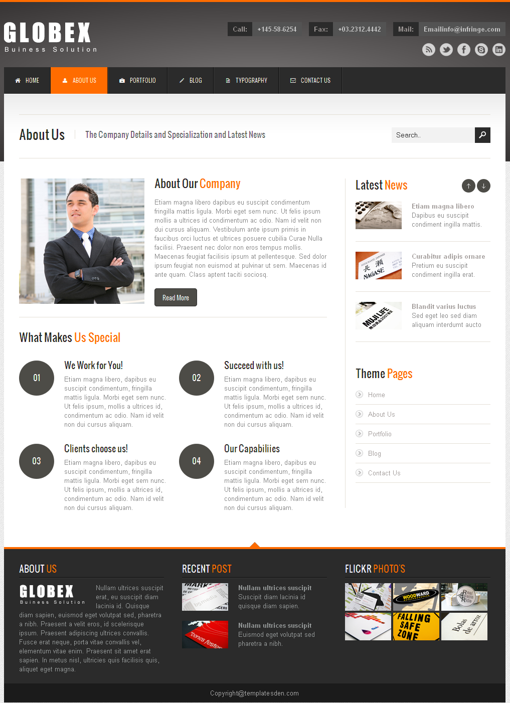 Globex - Responsive Business WordPress Theme