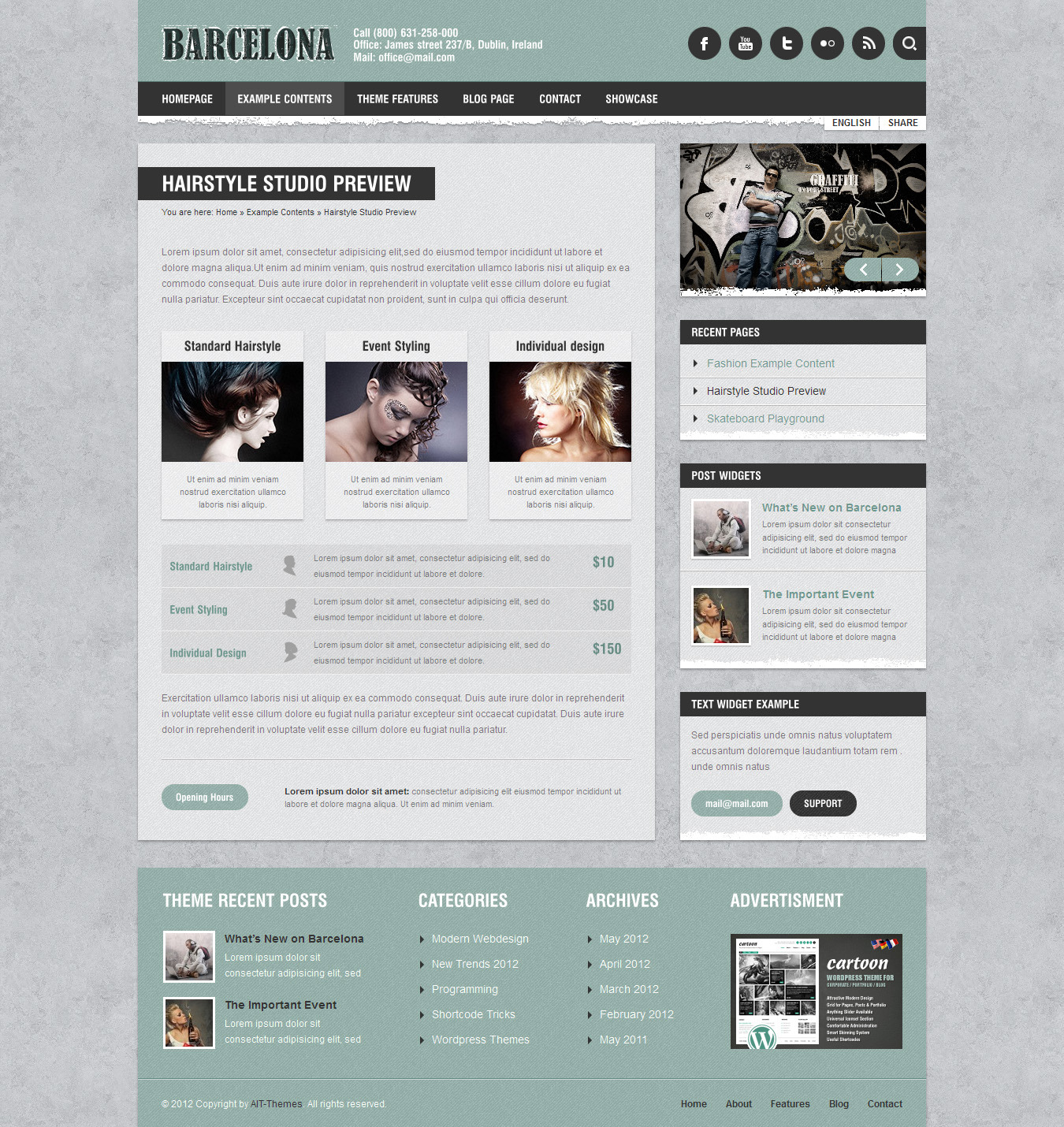 Barcelona: Customizable Universal Wordpress Theme