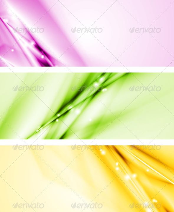 Colourful modern banners - Abstract Conceptual
