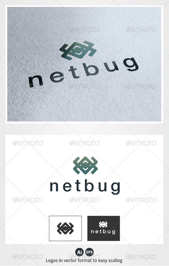 Net Bug Logo - Animals Logo Templates