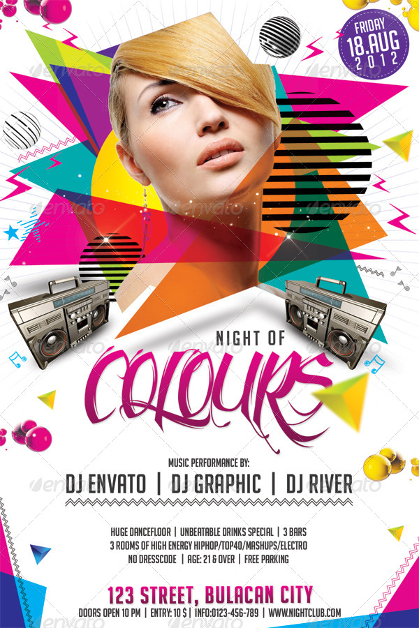 Night Of Colours Flyer Template