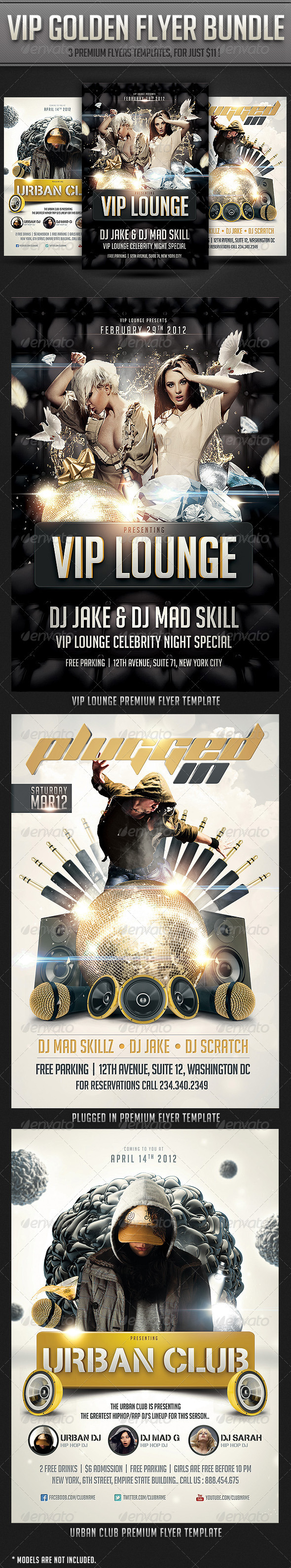 GraphicRiver VIP Golden flyer Bundle 2874156