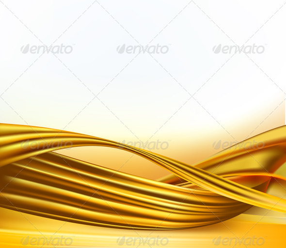 White And Gold Abstract Background