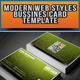 Modern Web Styles Bussines Card - GraphicRiver Item for Sale