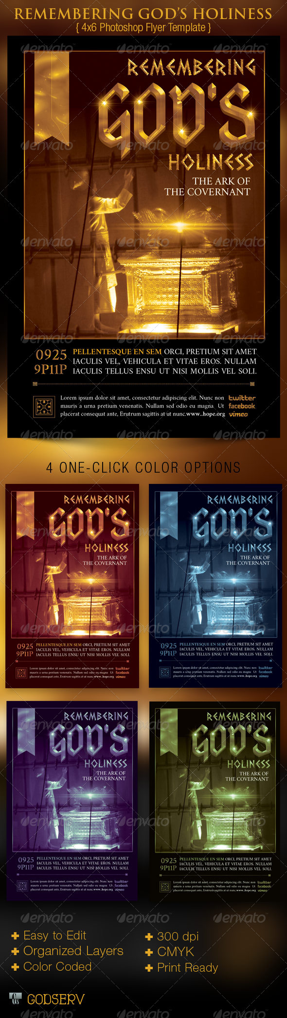 Remembering God's Holiness Church Flyer Template - Church Flyers