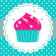 Retro party cupcake template - GraphicRiver Item for Sale