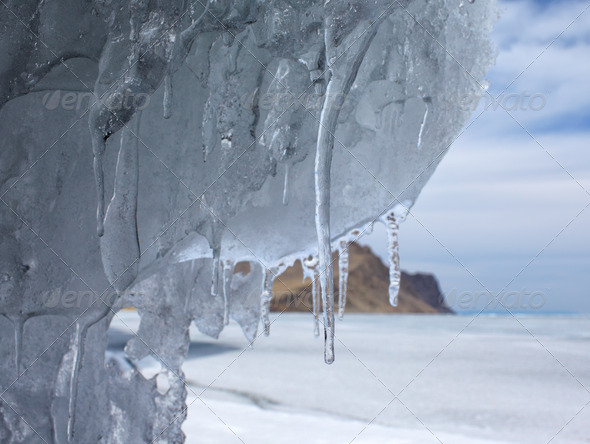 baikal in winter - Stock Photo - Images
