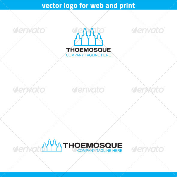 Mosque Logo Template - Buildings Logo Templates