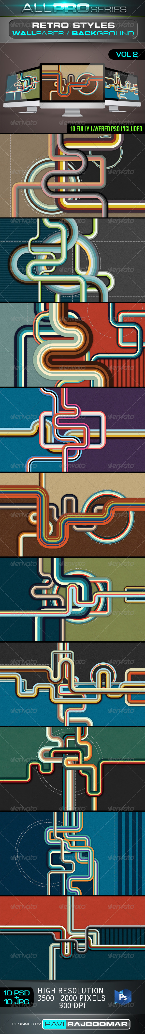 Retro Style Background Vol.2 - Abstract Backgrounds